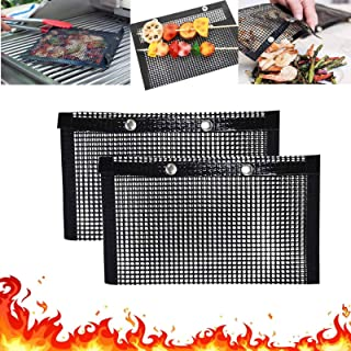 Snow Keychain BBQ Grill Mesh Bag,Non-Stick BBQ Baked Bag,Temperature Resistant PTFE Reusable Mesh,Reusable Easy to Clean M...