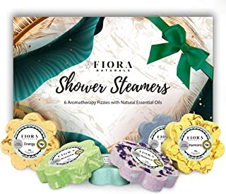 Fiora Naturals Shower Steamers Aromatherapy Gift- 6 Shower Bombs Vapor Tablets with Essential Oils for Stress Relief Vapor...