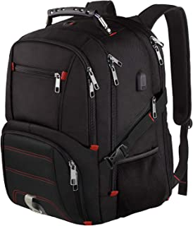 Extra Large Travel Laptop Backpack TSA Durable Computer College School Bookbag with USB Charging Port for Men