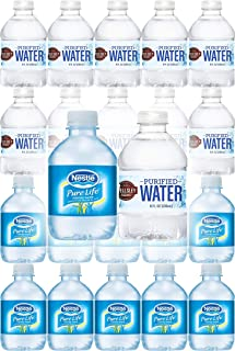 Nestle Water & Wellsley Farm Purified Water - Variety Pack, 8oz Bottle (Pack of 20, Total of 160 Fl Oz)