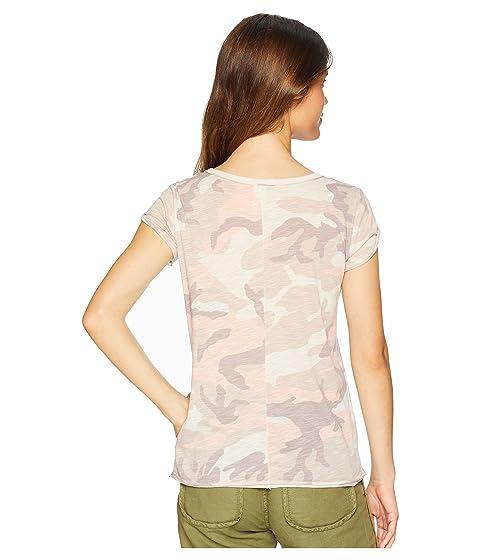 Rosa Camiseta People Camo Clare Free xq7w6qI