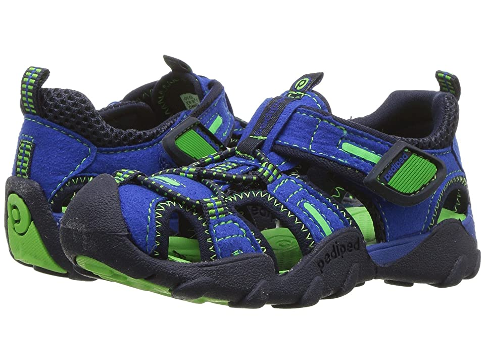 pediped Canyon Flex (Toddler/Little Kid/Big Kid) (Blue/Lime) Boys Shoes