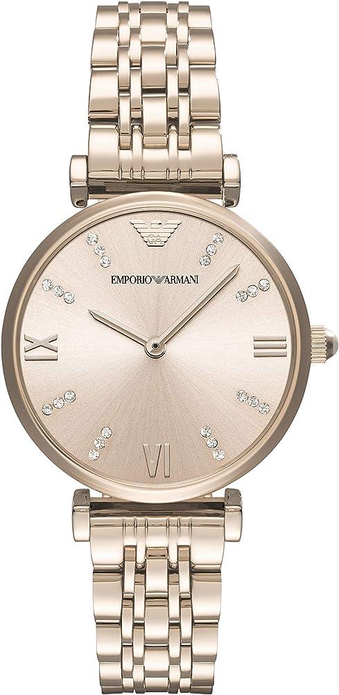 Emporio armani orologio da donna al quarzo oro rosa AR11059