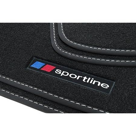 Fußmatten E70 Velours M Edition Doppelnaht Rot Blau Premium Automatten 4 Teilig Auto