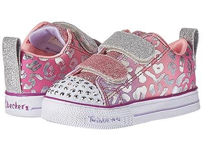 SKECHERS KIDS Twinkle Toes Shuffle Lite 20252N (Toddler/Little Kid) (Silver/Multi) Girl