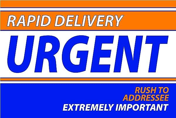 6 X 9 Express Envelope Orange Blue