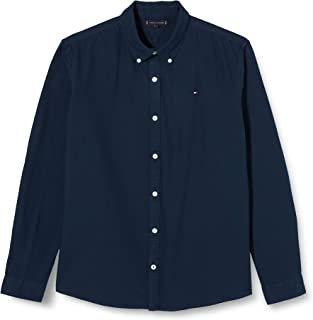 Tommy Hilfiger Overdye Dobby Shirt L/S Camisa para Niños