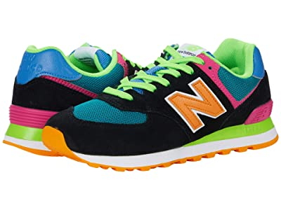 New Balance Classics ML574v2 (Black/Energy Lime) Men