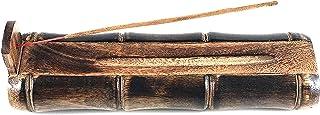 UnitedPrime Bamboo Incense Burner Stick Holder with Craft Storage Box,Brown Wood Ash Catcher Handmade Holder Catch All Ash...