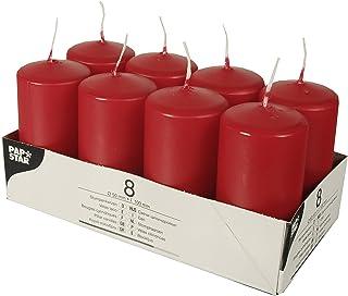 PAPSTAR Velas de parafina, color rojo, 50 mm x 100 mm