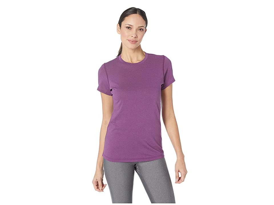 New Balance Heather Tech Tee (Claret Heather) Women