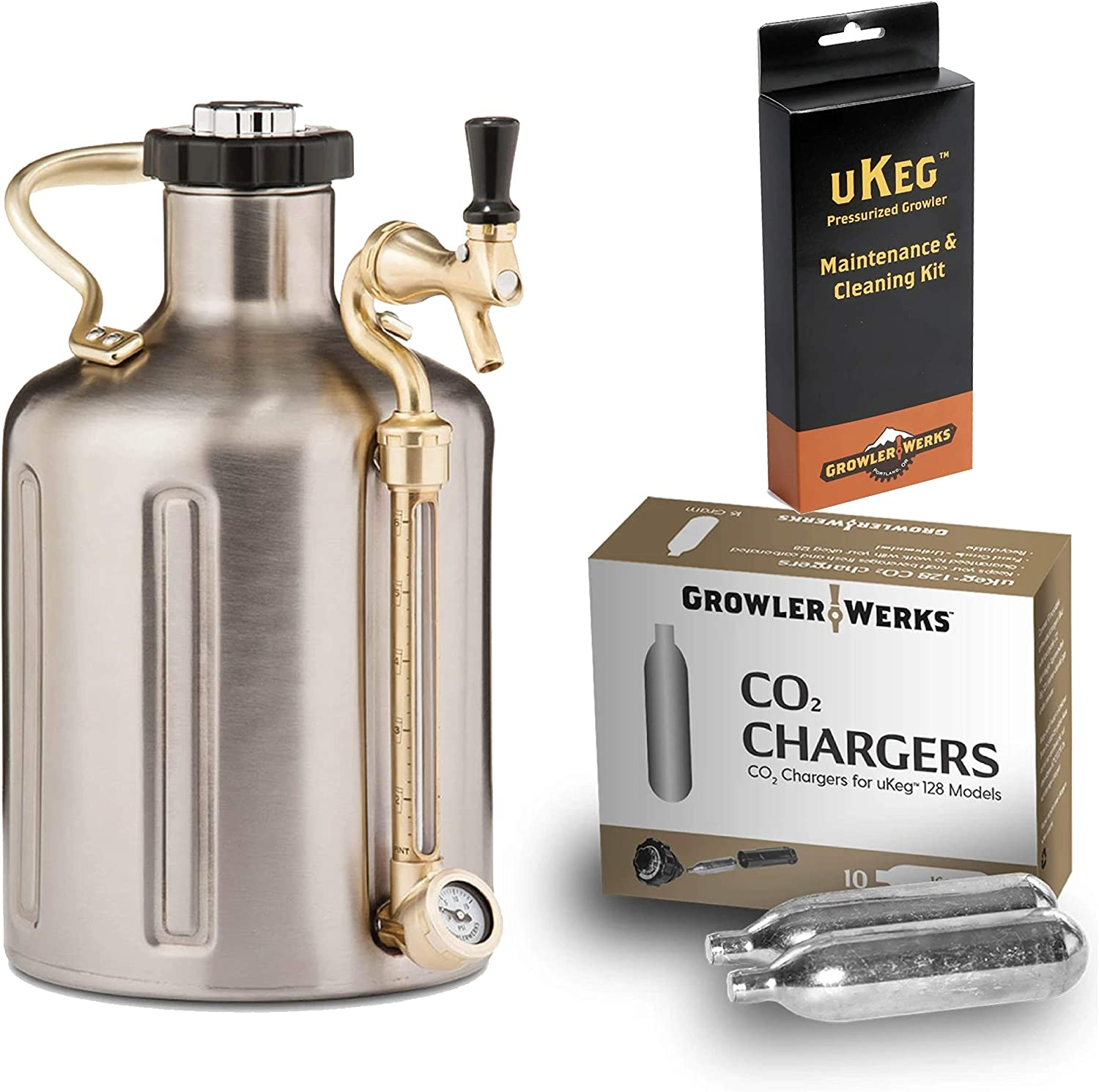 NEW before selling GrowlerWerks uKeg Carbonated Growler Year-end annual account 128 Stainless oz 10 Steel -