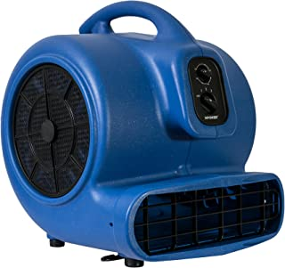 XPOWER X-800TF 3/4 HP Air Mover, Carpet Dryer, Floor Fan, Utility Blower - with 3-Hour Timer and Filter Kit- Blue