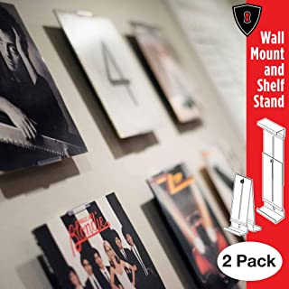 Album Mount Vinyl Record Frame, Wall Mount and Shelf Stand, Invisible and Adjustable, 2 Pack