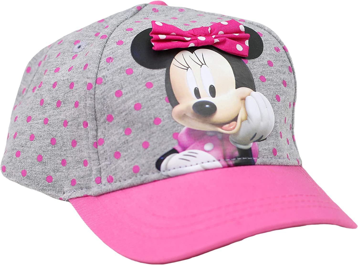 Disney Little Attention excellence brand Girls Minnie Mouse Baseball On Bowtie Cap 3D with