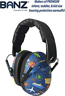 BANZ Kids Headphones – Hearing Protection Earmuffs for Children – Adjustable Headband..