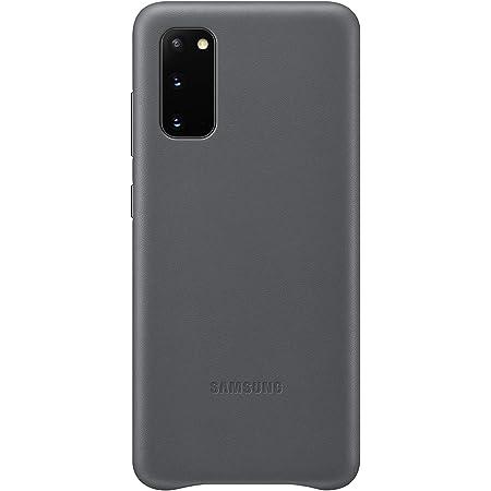 Samsung Leather Smartphone Cover Ef Vg985 Für Galaxy S20 S20 5g Handy Hülle Echtes Leder Schutz Case Stoßfest Premium Grau Elektronik