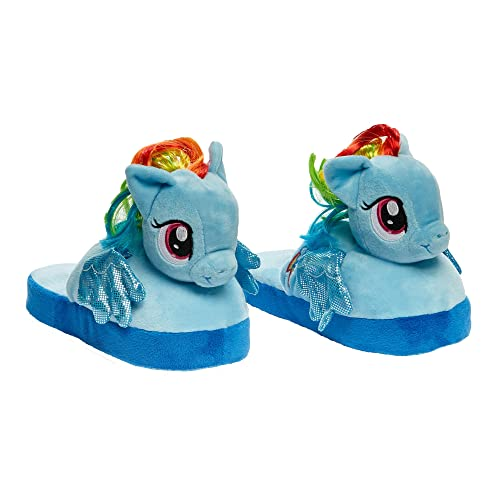 Stompeez Animated My Little Pony Plush Slippers - Ultra Soft and Fuzzy Rainbow Dash Character -