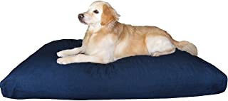 Premium Durable Orthopedic Shredded Memory Foam Dog Bed Pillow with Waterproof Internal Liner and Strong External