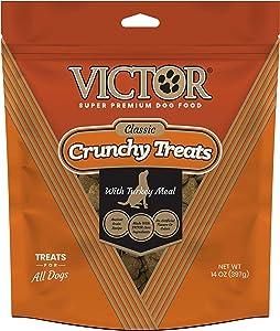 VICTOR Super Premium Pet Food Classic Crunchy Dog Treats with Turkey Meal, 14oz Bag, Orange