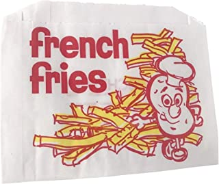 100 French Fries Paper Bags 5-1/2