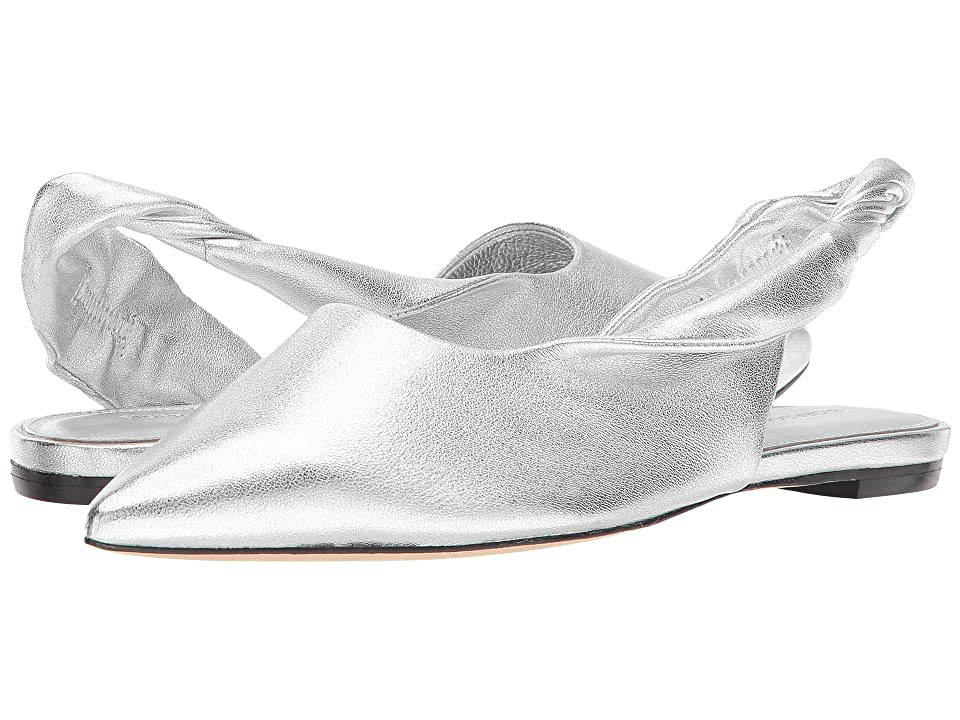 Sigerson Morrison Sham (Silver Buttery Leather) Women