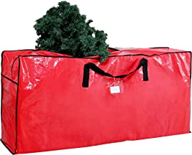 "Joiedomi Large Christmas Tree Storage Bag (Red) – Fits up to 9 ft Disassembled Artificial Christmas Tree, Durable Waterproof Material with Carry Handles and Zippered Closure, 65"" x 15"" x 30"" (LxWxH)"