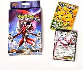 100 قطعة من بطاقات الطاقة بوكيمون اي اكس وجي اكس وميجا وانيرجي للمدرب