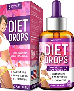 Appetite Suppressant for Women & Men - Weight Loss Drops - Made in USA - Natural Metabolism Booster Diet Drops - Fat Burne...