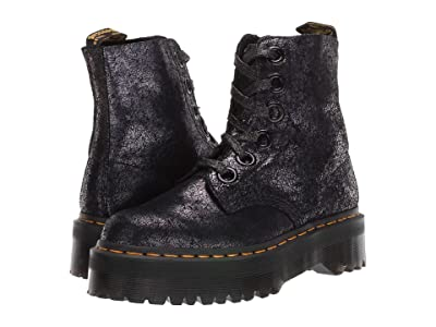 Dr. Martens Molly Iridescent Crackle (Black) Women