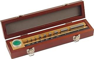 Mitutoyo 516-931-26 Steel Rectangular Micrometer Inspection Gage Block Set, Inch, Optical Parallel, 0.0625