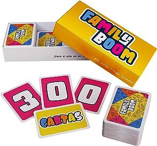 Family Boom - El Juego de Mesa para Toda la Familia - 300 Cartas variadas y Divertidas, Juego de Cartas niños, Juegos de M...