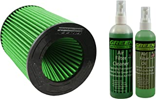 Green Filter 7159 Green High Performance Air Filter COMBO with Green Filter 2000 Green High Performance Air Filter Recharge Oil and Cleaner Kit
