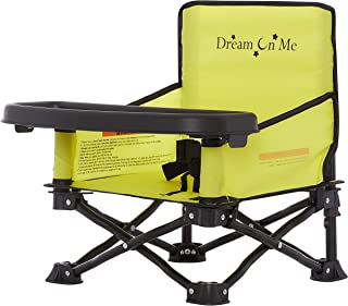 Dream On Me Sit  'N  Play Booster Chair I Portable I   For Indoor/ Outdoor Use I Compact Fold I Lightweight I Safety Harness I  Travel High Chair I On-The -Go