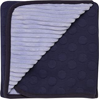 BABY STARTERS 2-Ply Textured Dot Jacquard Knit Baby Blanket for Newborns and New Moms (Navy Blue and Dark Blue, 30
