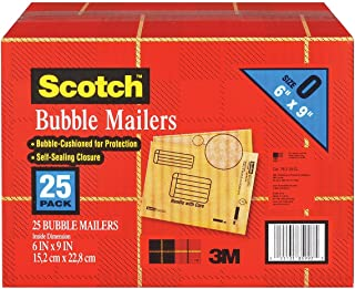 Scotch 3M Bubble Mailers Size 0 (6