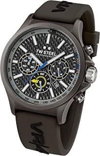 TW Steel Mens Quartz Watch, Chronograph Display and Silicone Strap TW-TW935