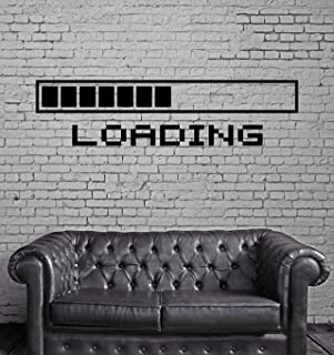 PICTURE IT ON CANVAS Loading a Video Game Wall Poster Decal Cool Gamer Stuff Computer Wall Stickers Murals Home Decor Accents
