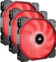 Corsair AF120 LED Low Noise Cooling Fan Triple Pack - Red Cooling