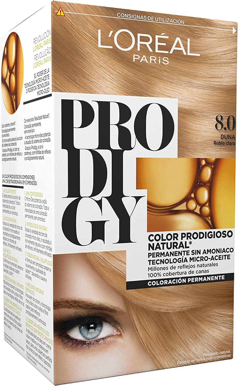 L'Oreal Paris Prodigy Coloración Sin Amoniaco 8.0 Rubio Duna