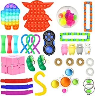 30 Pack Sensory Toys Set, Relieves Stress and Anxiety Fidget Toy for Children Adults , Special Toys Assortment for Birthda...