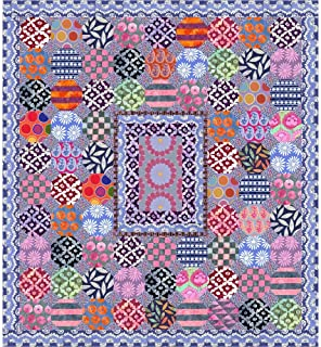 Kaffe Fassett Mediterranean Tiles Quilt Kit Featuring Kaffe Fassett Artisan Fabric (Top and Binding)