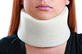 Universal Cervical Collar White 3 Inch Padded Foam Neck Brace for Treating and Rehabilitating Neck, Head or Spinal Injuries | Properly Aligns, Limits Motion and Supports