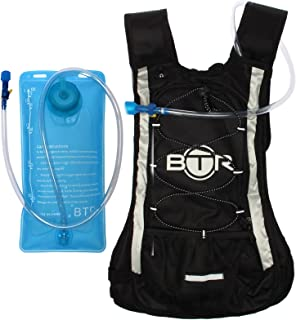 BTR Hydration Pack. Hydration Backpack (10L) Plus Hydration Bladder (2L). Ideal for Cycling, Running, Hiking.