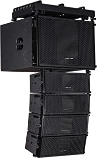 Sound Town ZETHUS Series Line Array Speaker System with One 15-inch Line Array Subwoofer, Four Compact 2 X 5-inch Line Array Speakers, Black