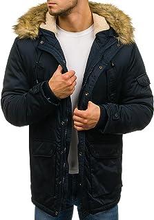 d4c9ce63 BOLF Hombre Chaqueta de Invierno Parka con Capucha Pelo Artificial Estilo  Diario 4D4