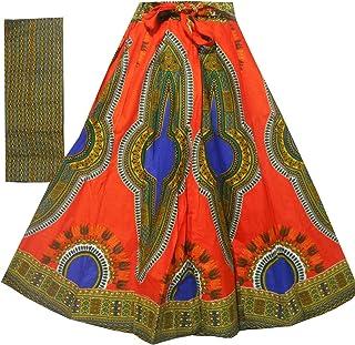 67d4775b7a4 Decoraapparel Women s African Dashiki Maxi Skirt Long High Waist Skirt One  Size