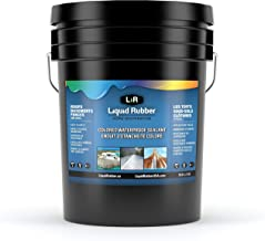 Liquid Rubber Color Waterproof Sealant, White, 5 Gallon