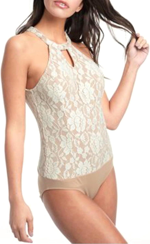 Ella Moss Women's Trello LACE Bodysuit Natural