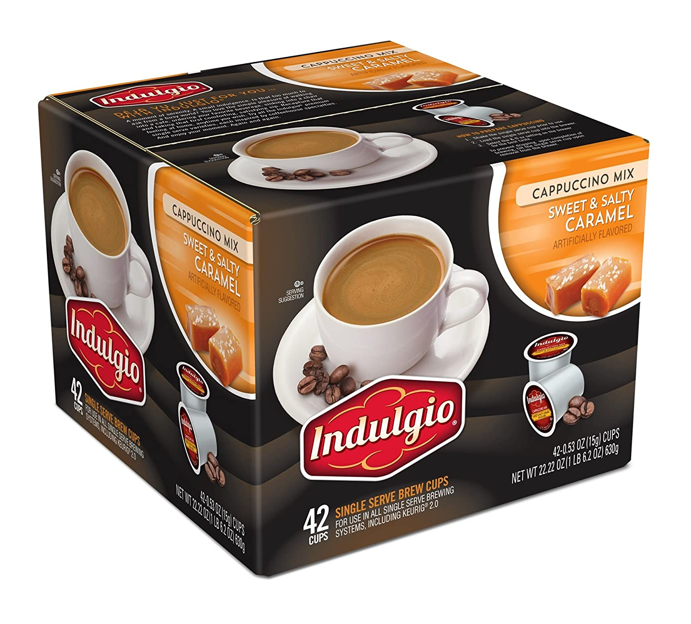 Indulgio Cappuccino Sweet and Salty Caramel, 42 Count iuk7158800